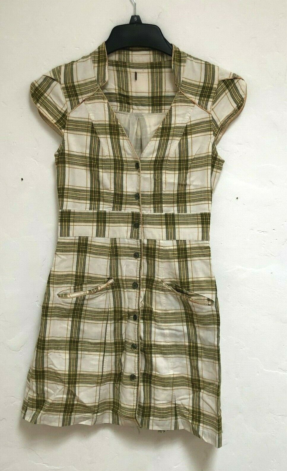 PO Free people Checkers Western Button dress XS