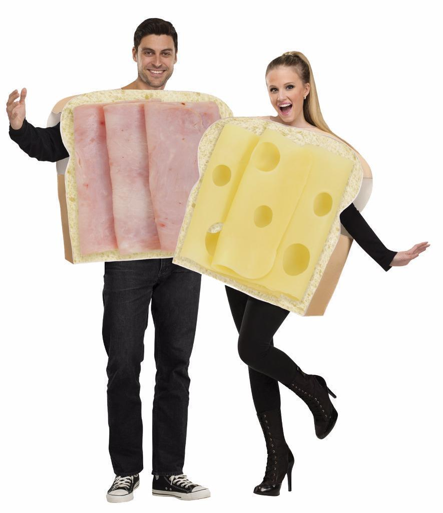 Ham Cheese Swiss Couples Costume Food Halloween Party FW130984