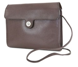 Authentic Vintage CHRISTIAN DIOR Brown Leather Shoulder Bag Purse #35220A - $189.00
