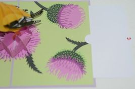 Lovepop LP1960 Goldfinch Pop Up Card Purple Slide Out Note Cellophane Wrapped image 5