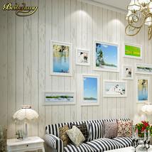 beibehang papel de parede. Blue/White Panel non-woven wallpaper Roll Wood Vintag - $59.95