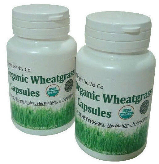 Pure Organic Wheat Grass Powder Capsules tablets Wheatgrass