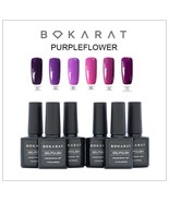 Bokarat Gel Nail Polish Set Soak Off UV LED Purple Flower Series 6 x 7.3... - $21.99