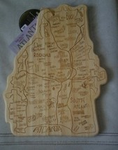 "ATLANTA shaped Bamboo Cutting Board, 8"" X 10"" - $9.49"
