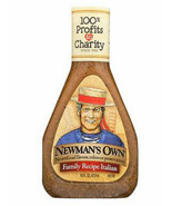 Newman's Own Italian Salad Dressing, 16oz, Case of 6 bottles, zesty - $38.99