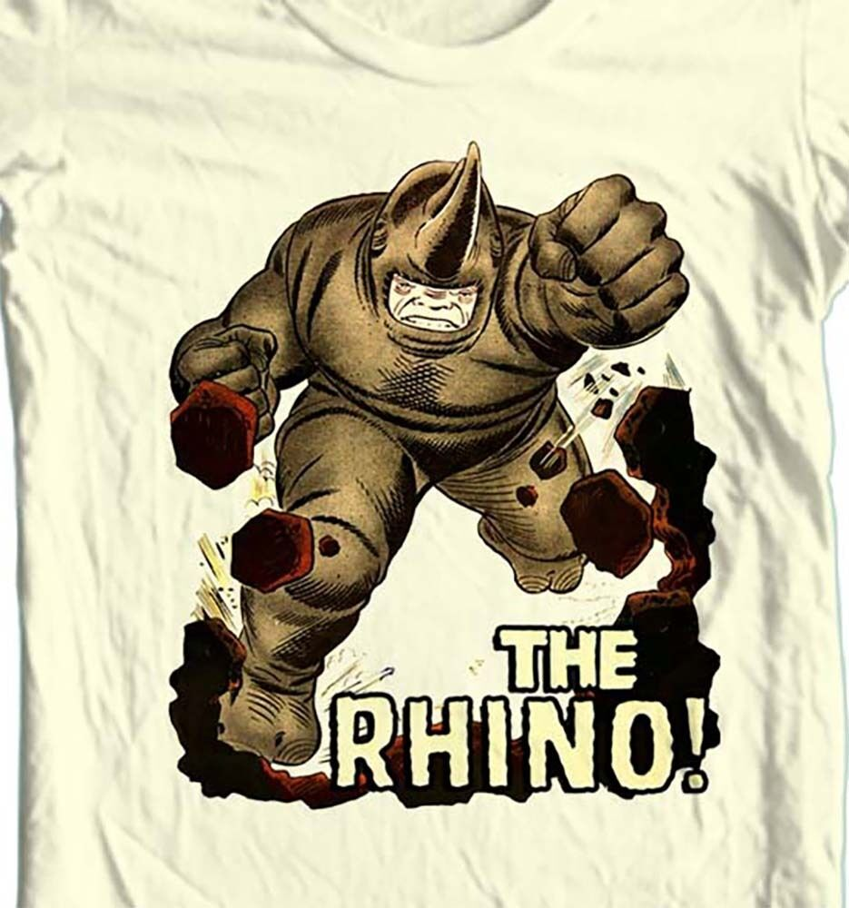 THE RHINO t-shirt vintage Silver Age comic book villain Green Goblin
