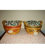 Longaberger 1999 Christmas ~2~ Peppermint Tree Trimming Basket Combo - $49.99