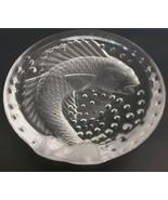 Lalique France Crystal Bowl - Koi Fish Art Glass  Ashtray Signed - $98.99