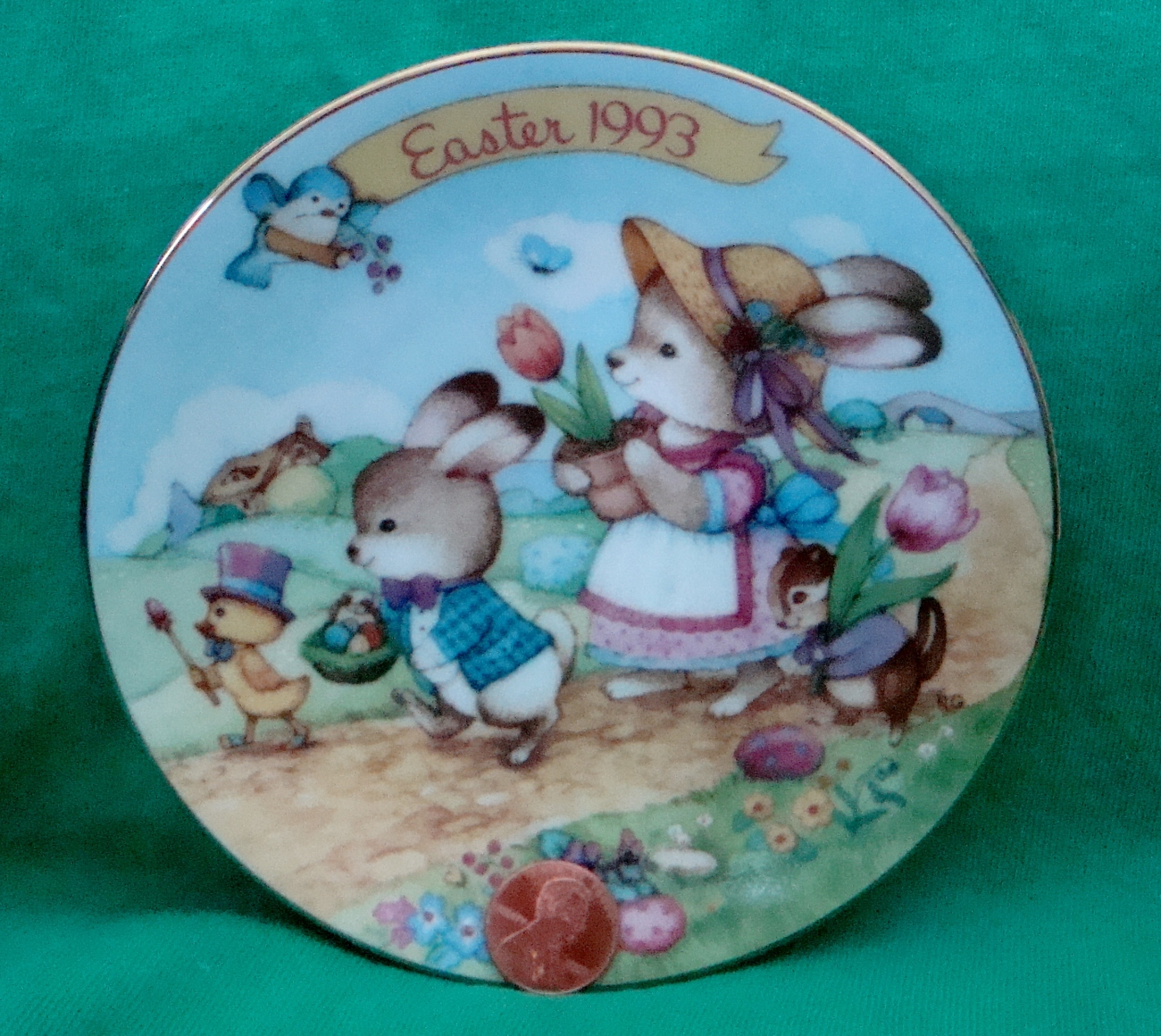 Avon Collectible Plate Easter 1993 Easter Parade