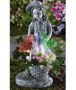 Fiber Optic Flower Girl Garden Statue - $21.95