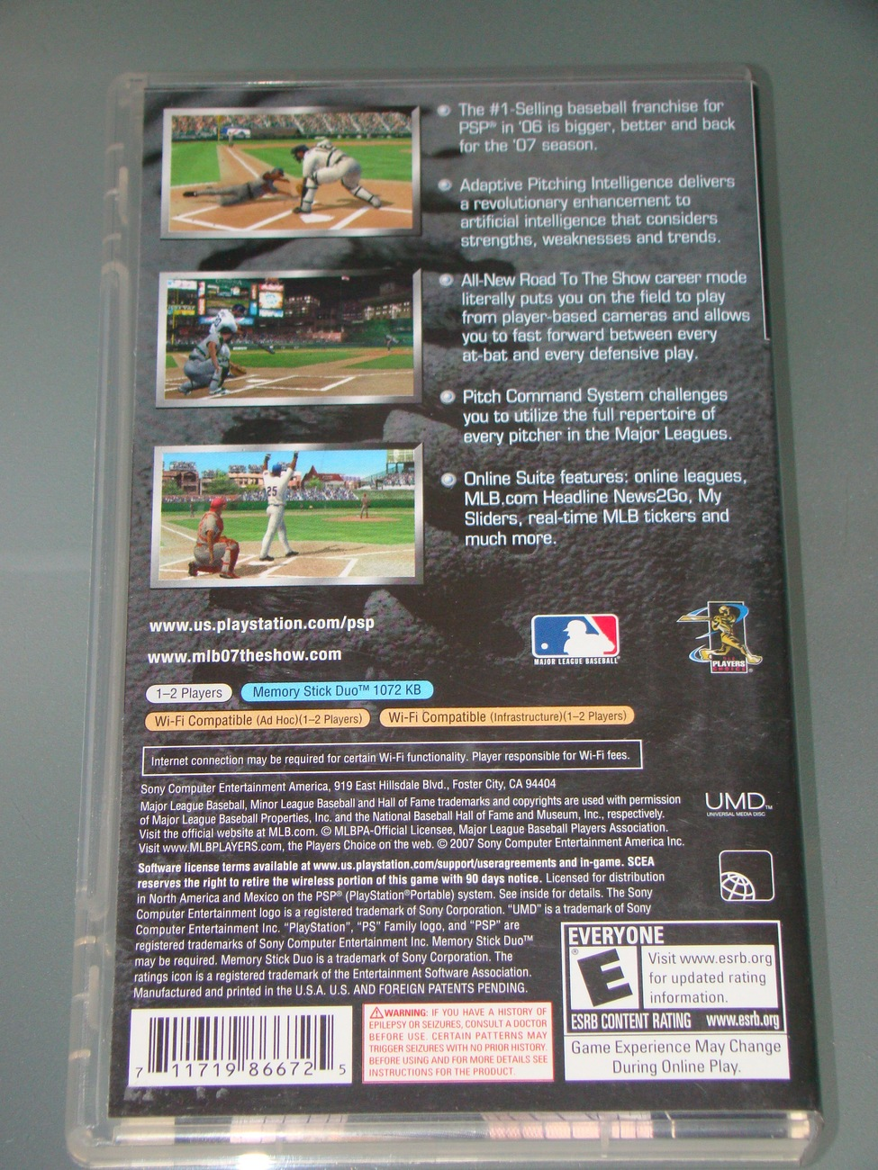Sony PSP UMD GAME - MLB 07 THE SHOW (Complete with Manual)