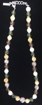 Vintage Napier Signed Beaded Necklace #89 - $39.99