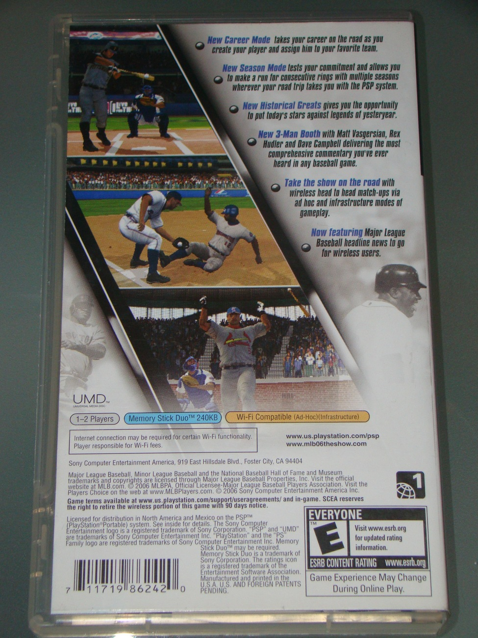 Sony PSP UMD GAME - MLB 06 THE SHOW (Complete)