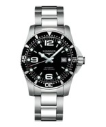 Longines Black Dial HydroConquest Automatic Diver Mens Watch - L3.642.4.... - $930.60