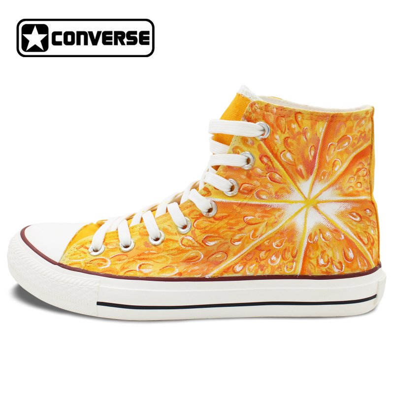 5e49600755bc Original Design Fruit Tangerine Flesh Converse All Star Hand Painted Canvas  Shoe