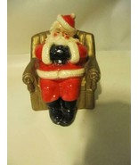 Vintage Christmas Marbello Ceramic Santa Claus Bank Santa Sitting in Chair - $54.44