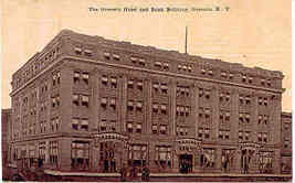 Hotel and Bank Bldg Oneonta New York Post Card - $6.00