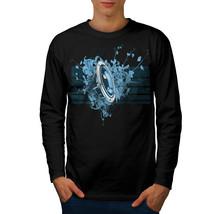 Speaker Dance House Music Tee Bass Line Men Long Sleeve T-shirt - $14.99