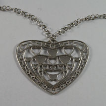 .925 SILVER RHODIUM NECKLACE WITH WHITE PEARLS, SMOKY QUARTZ AND HEART PENDANT image 3