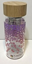 Pureology Glass Infuser Bottle Tea Fruit Water with Bamboo Lid New No Box - $15.57