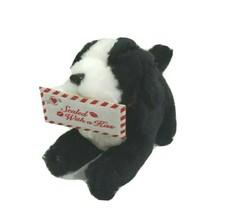 MTY International Black White Dog Puppy Plush Valentine Sealed with a Ki... - $16.82