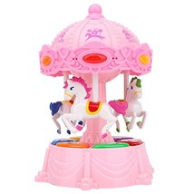 Zooawa Carousel Music Box, Merry Go Round Electronic Musical Rotating To... - $19.44