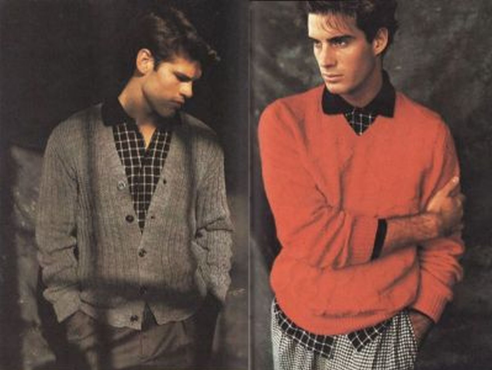 Vtg Vogue Mens Knits 25 Designs Tennis Sailing Ski Cricket Sweaters Patterns image 11