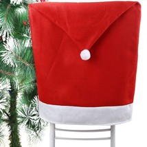 Removable Santa Red Hat Chair Covers Christmas(RED) - $7.41