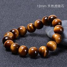 Fashion Nature Tiger Eyes Beads Bracelets Men 6/8/10/12mm Charm Natural Stone Br - $12.84
