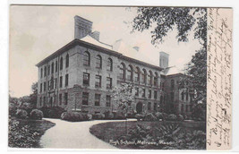 High School Melrose Massachusetts 1910 postcard - $6.73