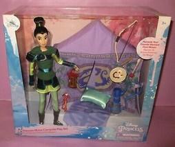 Disney Store Mulan Princess Campsite Play Set Camping Playset Diorama Do... - $89.99