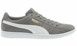 Nuevo Puma Mujer Ante Vikky Gris Tenis Gimnasio Zapatos Zapatillas image 2