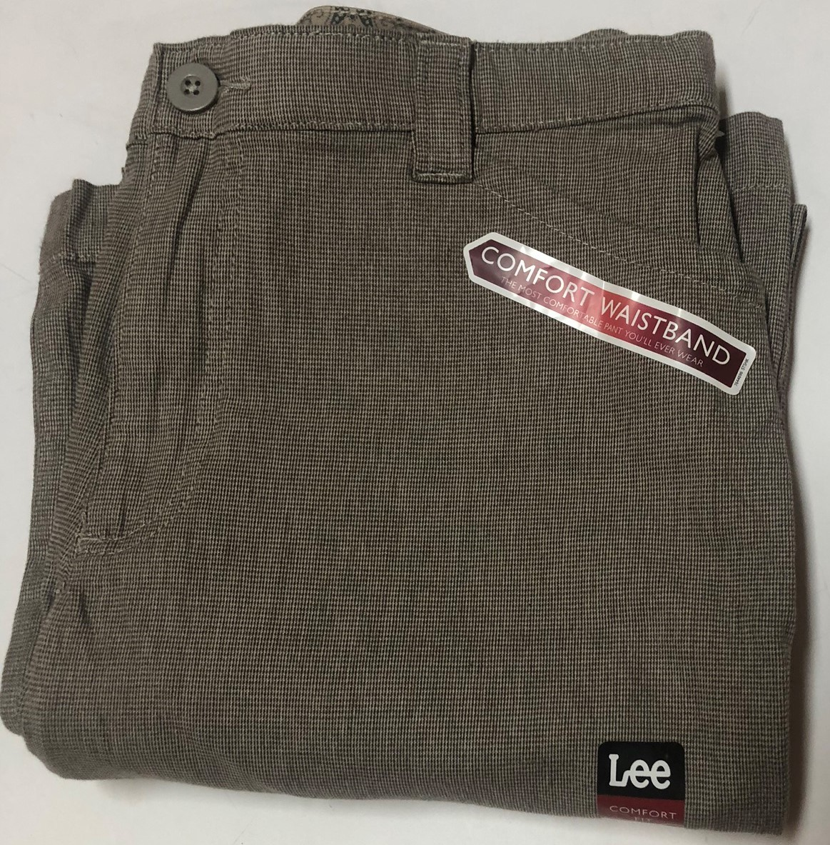 Lee Comfort Fit Casual Pants Women's Sz 14M Gray Small Plaid image 8