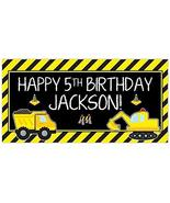 Personalized Under Construction Dump Truck Party Zone Birthday Banner Pa... - $19.80