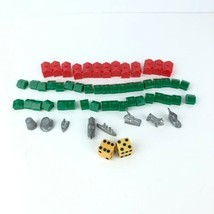 Vintage 1961 Monopoly Parker Brothers Game Replacement Pieces & Houses  - $9.89