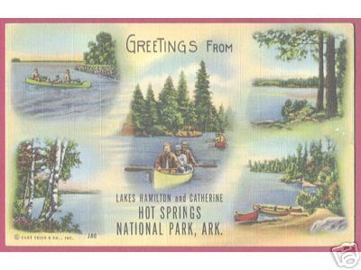 HOT SPRINGS ARKANSAS Lakes Hamilton Catherine Canoes