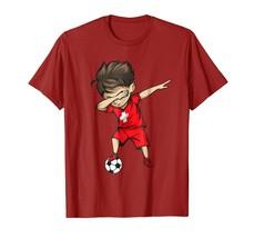 Dad Shirts - Dabbing Soccer Boy Switzerland Jersey Shirt - Swiss Football Men - $19.95+