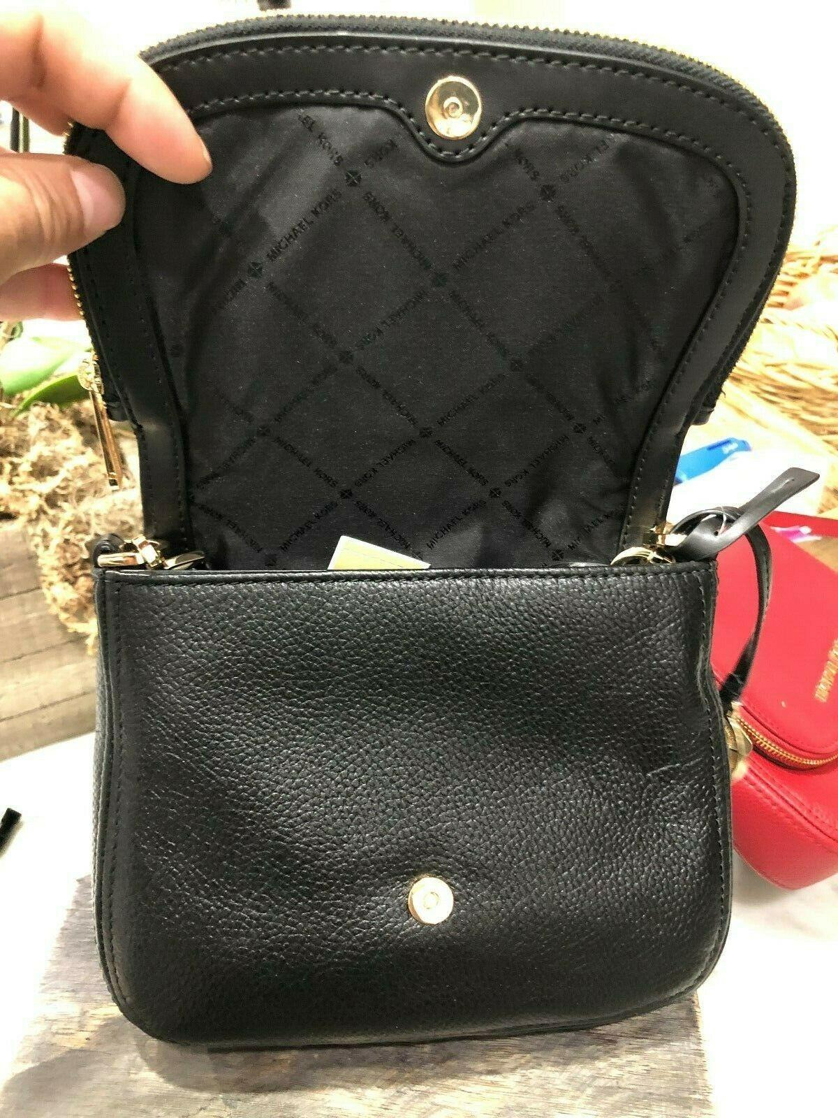 Michael Kors Classics Bedford Pocket Flap Small Crossbody Bag Pebbled $298 New image 10