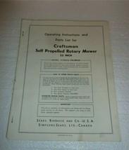 Vintage Owners Manual Push Mower Craftsman Sears Model #536.88960 M-2 - $7.84