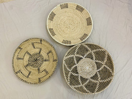 Set of3 Assorted African Wall Baskets - Wall Basket Hanging - Assorted W... - $120.00