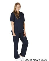 M&M Dary Navy Blue Scrubs (Top & Bottom) Size Small New In Package - £14.39 GBP