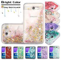Samsung GALAXY J3 Emerge Bling Hybrid Liquid Glitter Rubber Protector Case Cover - $7.97