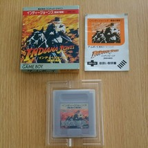 Game Boy INDIANA JONES - Last Holy War with Box Nintendo GB Confirmed Op... - $184.11