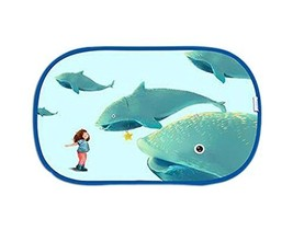 Lovely Cartoon Car Curtains Sunshades Sunscreen Insulation Sunshades, Fish