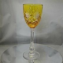 Faberge Yellow Odessa Hock Crystal Wine Glass - $225.00