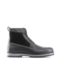 Mens Winter Lace Up Ankle Boots Shoes Lumberjack - ROMAN Black Genuine L... - $73.02