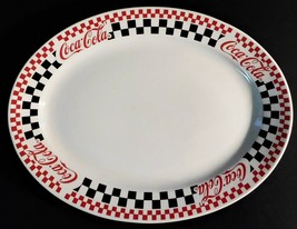"Gibson Coke Coca-Cola 1996 Oval Platter Checkered Discontinued 13.5"" Vin... - $29.69"