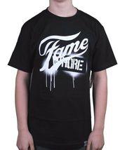 Dissizit! Mens Navy or Black Fame Whore Slick LA Graffiti Paint Drip T-Shirt NWT image 4