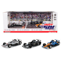 2018 Indianapolis 500 Podium 3 piece Set 1/64 Diecast Model Cars by Gree... - $38.44