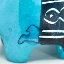 Crafts Caravan Soapstone Blue Hippopotamus Hippo Figurine Made Kenya image 6